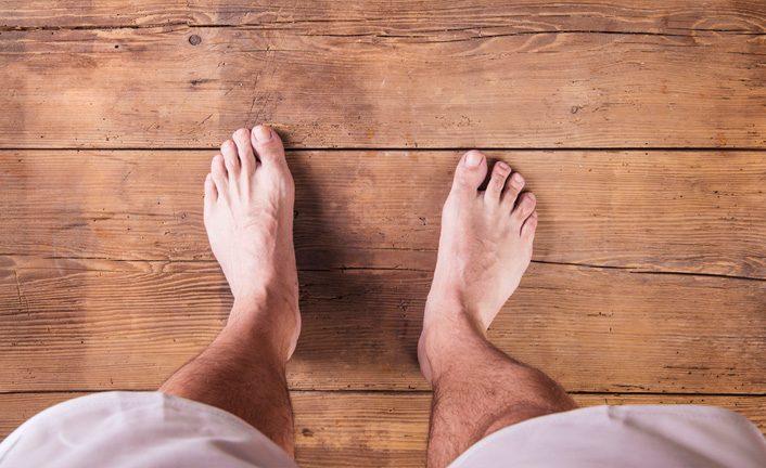 The feet were the same