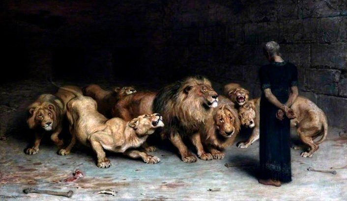 Why was Daniel cast into the lions' den?